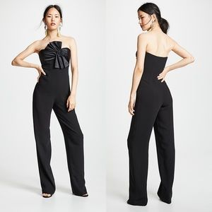 Cinq a Sept | Black Trina Bow Strapless Jumpsuit